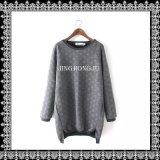Knit повелительниц, жаккард, пуловер шеи длинних втулок отдыха круглый с плотно дном