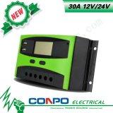 30A, 12V/24V, USB, LCD, regulador solar de PWM