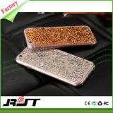 Caja chispeante del teléfono móvil del brillo de la cubierta del diamante de lujo TPU de Bling
