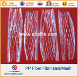 Micro fibra della maglia fibrillata Microfiber della fibra pp per costruzione