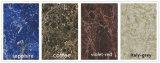 Mattonelle di pavimento Polished della porcellana di marmo del travertino