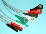 Кабель Leadwire ECG DIN Holter Snap&Clip 5 терпеливейшего монитора