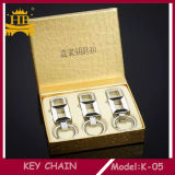La fábrica de la promoción vende al por mayor Keychain con el material del metal