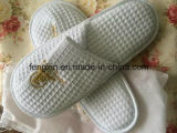 Белое Waffle с Logo Printing Hotel Disposable Slipper