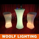 LED 커피용 탁자/옥외 LED 가구/플라스틱 바 테이블