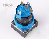 Des Cer-ISO9001 TUV 16mm momentaner geleuchteter Drucktastenschalter Druckknopf-Quadrat-des Kopf-5A/250VAC LED