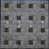 Белая мозаика камня мрамора природы для плитки стены предпосылки телевидения (FYSSL057)