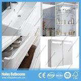 Der späteste High-Gloss Lack MDF-Vorstand zwei kurvte Fach-große Spiegel-Schrank-Badezimmer-Sets (BF126C)