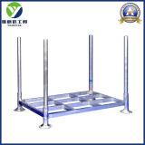 Estantes de acero amontonables y plegables del cinc galvanizado 2017 de poste de las paletas