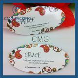 Étiquette du fabriquant de papier faite sur commande avec le laminage (CMG-062)