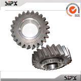 Kundenspezifischer CNC-maschinell bearbeitender Stahlgang und Welle-kundenspezifische Stahlteile mit CNC dem Prägen