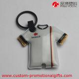 A bateria veste a lembrança Keychain do PVC da forma com luz do diodo emissor de luz
