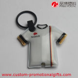 LED Light를 가진 건전지 Clothes Shape PVC Souvenir Keychain