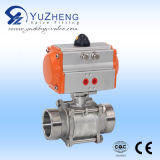 2PC Stainless Steel Ball Valve con Pneuatic Actuator
