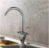 Le meilleur double robinet en laiton de vente de bassin de cuisine de traitement
