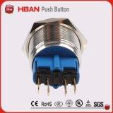 Métal de la CE ISO9001 22mm enclenchant le commutateur auto-bloqueur de commutateur de bouton poussoir
