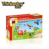 Thinkertoy الحياة البرية العلمي البناء كتل التعليمية لعبة الحيوانات البرية السلسلة