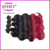 100%年バージンのOmberのブラジルの人間の毛髪の織り方ボディ波の人間の毛髪の拡張、着色されたブラジルの毛の
