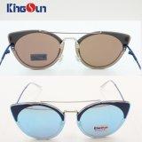 Sunglasses Flat Lens Metal女性円によって曲げられる絶妙な高レベル