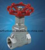 Fundición de precisión de acero inoxidable roscado válvula de compuerta