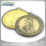 締縄が付いているカスタマイズされた記念品の金属メダル