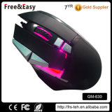 Factory LED colorido USB 10d Wired Optical Game Mouse