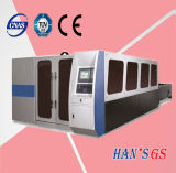 máquina de estaca do laser da fibra da placa de aço de carbono do aço inoxidável de 1000W Wuhan para a venda