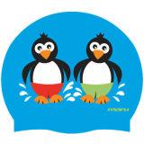Impermeable logotipo personalizado de impresión Gorro de baño de silicona blando en adultos
