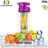 23oz TritanのフルーツInfuser、BPAが付いている物質的な水差しは放すプラスチックフルーツの注入のびん(HDP-0900)を