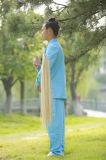 Roupa Long-Sleeved de primeira qualidade da prática do qui da mola dos homens do Taoism & do linho TAI do verão