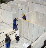 Casa a dos caras prefabricada del lujo EPS del cemento de emparedado del panel de la playa moderna del marco de acero