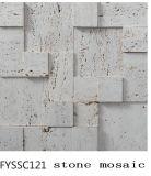 Natur-Steinmosaik für die Fernsehen-Hintergrund-Wand-Fliese (FYSSC120)