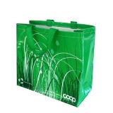 Sacchetto di acquisto riciclato elemento portante stampato promozionale (LJ-128)