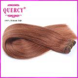 Волосы темного Brown покрасили перуанские человеческие волосы 100% Weave прямых волос