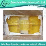 Pegamento adhesivo amarillo claro de Hotmelt para las materias primas del pañal del bebé (LS-0347)
