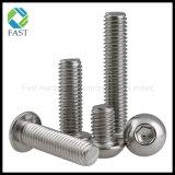 Auf lager ISO7380 Hexagon-Kontaktbuchse-Tasten-Kopf-Schraube des Edelstahl-A2-70