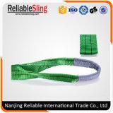 2t 60mm Auge, zum des grünen flachen Material-Riemens zu mustern hergestellt vom Polyester