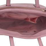 Bolso de totalizador rosado de la PU de las mujeres de moda