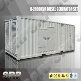 генератор 1850kVA 50Hz звукоизоляционный тепловозный приведенный в действие Perkins (SDG1850PS)