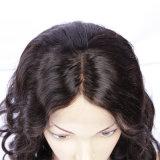 Das perucas cheias do cabelo humano do Short da peruca do laço de Glueless das mulheres pretas das perucas da parte dianteira do laço do cabelo humano da densidade de 130% peruca natural brasileira da onda
