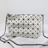 白い方法日本折るハンドバッグの幾何学の斜方形のショルダー・バッグ(A060-1)