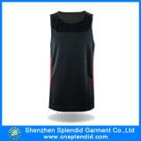 Camiseta al por mayor del negro de la dimensión de una variable de China U de la fábrica de la camiseta del Mens
