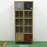 Gabinetes Handmade do metal do vintage para o indicador do armazenamento