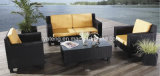 屋外のセットされる家具の庭のテラスのソファーの一定の総合的な藤によって編まれる全天候用ソファー(YT022)
