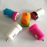 多彩な5V 1A車の充電器携帯電話のための携帯用USB車の充電器