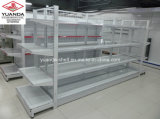 Einzelnes und doppeltes seitliches Metallsupermarkt-Regal