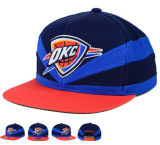 2016 DIYのロゴの赤く青い綿のバスケットボールの急な回復の帽子