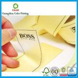 Clear su ordinazione Sticker con Gold Hot Stamping