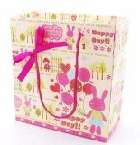Sac rouge de papier d'imprimerie/sac à provisions/sac de cadeau