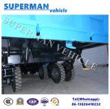 トレーラーか引っ張り棒のトレーラーをひっくり返す20t農業の使用の貨物ダンプのトレーラー